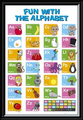 Framed Framed Learn the Alphabet - Educational Letter Fun
