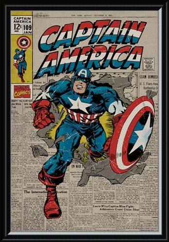 Framed Framed A True Marvel Hero - Captain America