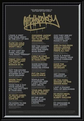 Framed Framed Hiphopology - A Gentlemen's Guide....