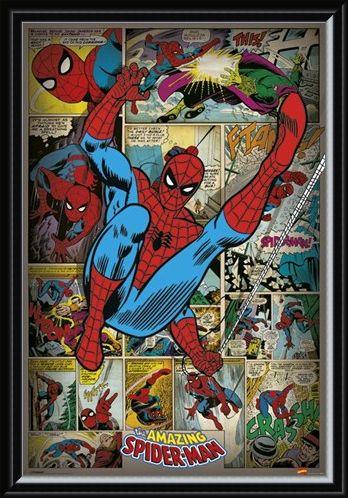 Framed Framed Retro Spiderman Compilation - Marvel Comics