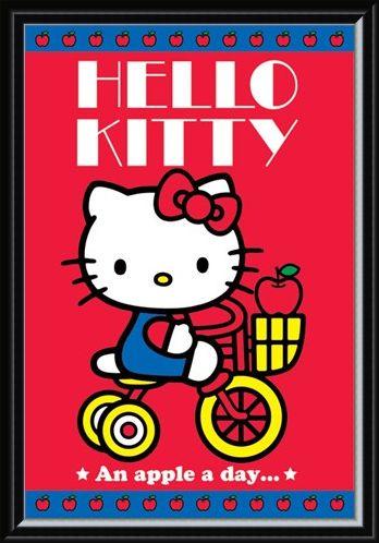 Framed Framed An Apple A Day - Hello Kitty
