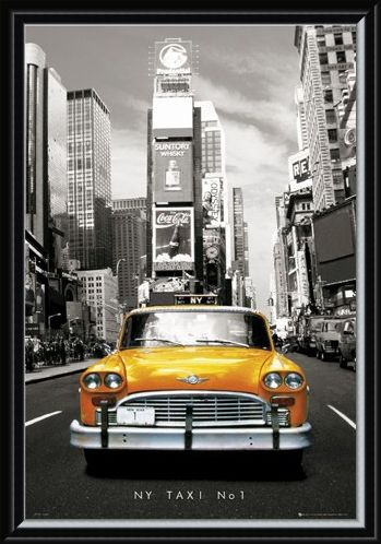 Framed Framed New York Taxi Number 1 - New York, USA