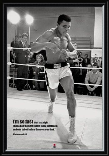 Framed Framed I'm so Fast - Muhammad Ali in Training