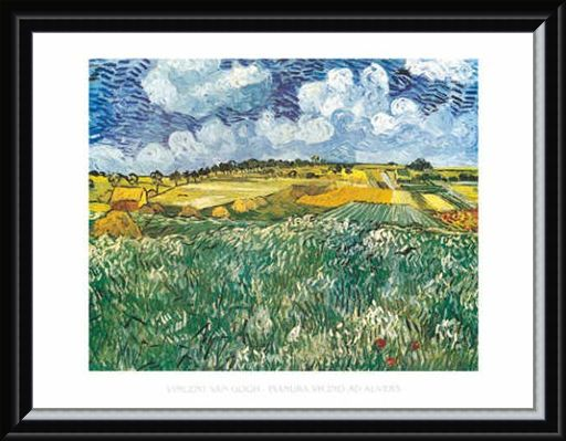Framed Framed Pianura Vicino ad Auvers - Vincent Van Gogh