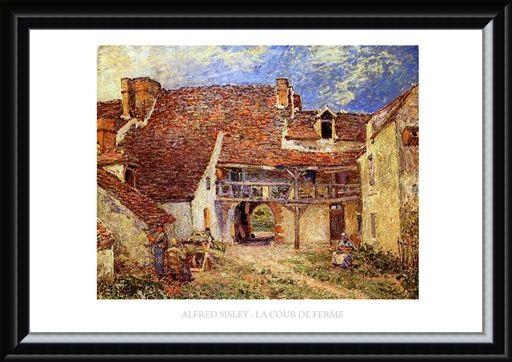 Framed Framed The Farmyard - Alfred Sisley