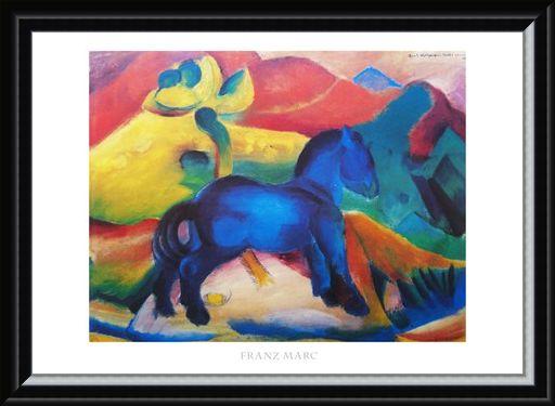 Framed Framed Blue Horse - Franz Marc