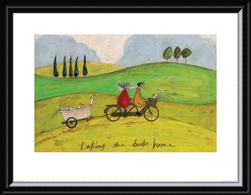 Framed Framed Taking the Ducks Home - Sam Toft