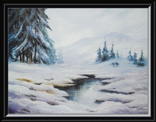 Framed Framed Winter in Comelico - B Gionola