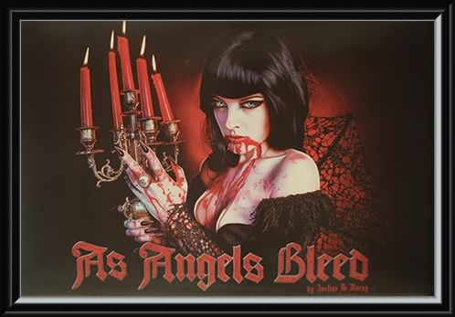 Framed Framed As Angels Bleed - Avelina De Mory