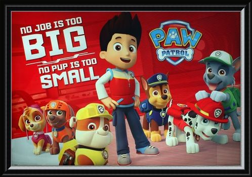 Framed Framed No Pup Is Too Small - Paw Patrol