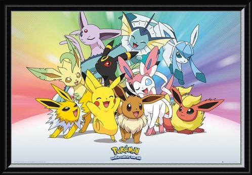 Framed Framed Eevee Evolution - Pokemon