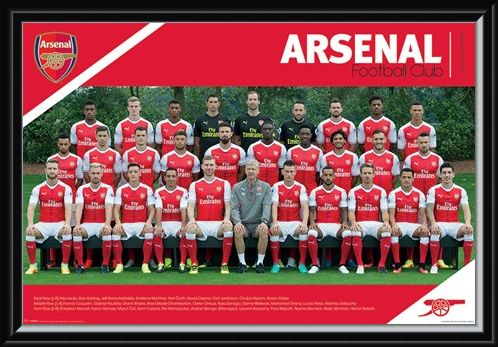 Framed Framed Team Photo 2016/2017 - Arsenal FC