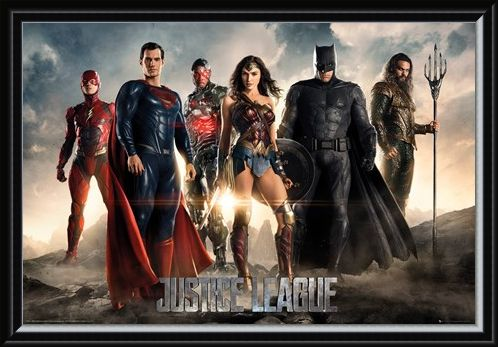 Framed Framed Character Line-Up - Justice League