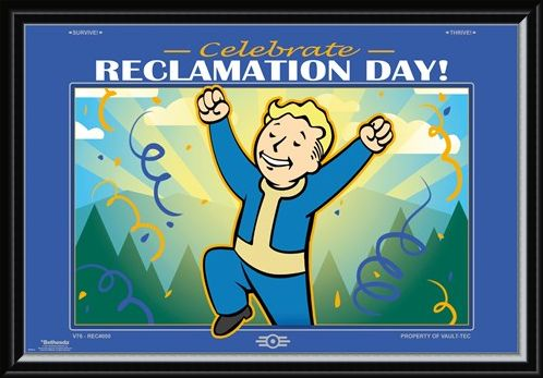 Framed Framed Reclamation Day - Fallout 76