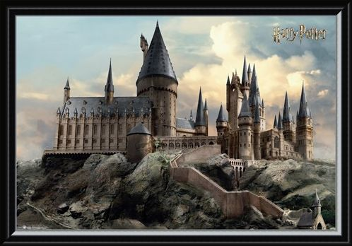 Framed Framed Hogwarts Day - Harry Potter