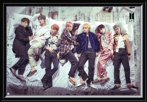 Framed Framed Group Bed - BTS K-Pop
