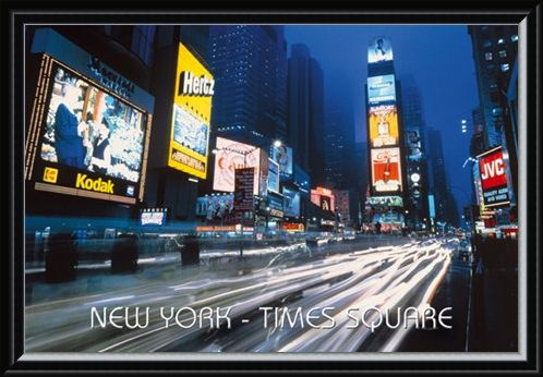 Framed Framed Neon Panorama - New York City