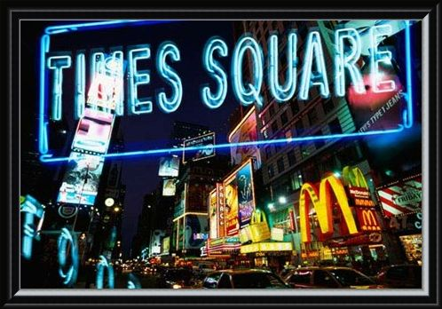 Framed Framed Neon Times Square - New York Night