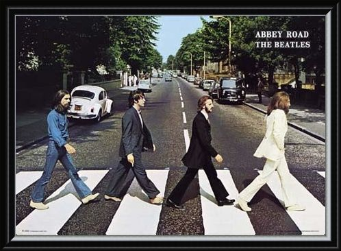 Framed Framed Abbey Road Album Cover - The Beatles