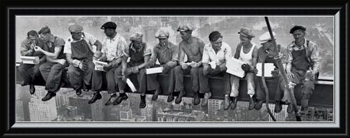 Framed Framed Men On A Girder Eating Lunch - New York City Collection