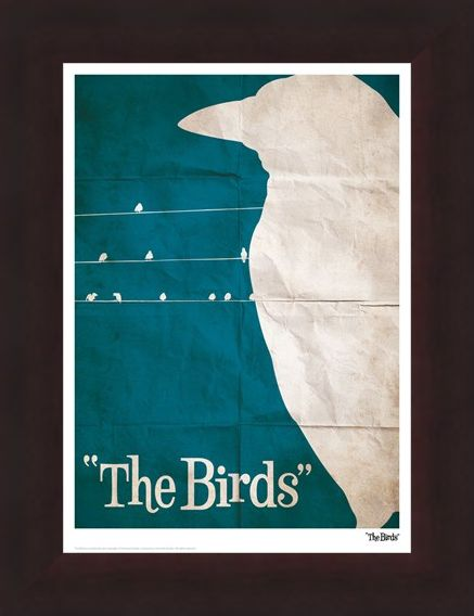 Framed Framed The Birds - Alfred Hitchcock