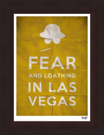 Framed Framed Fear And Loathing In Las Vegas - Text