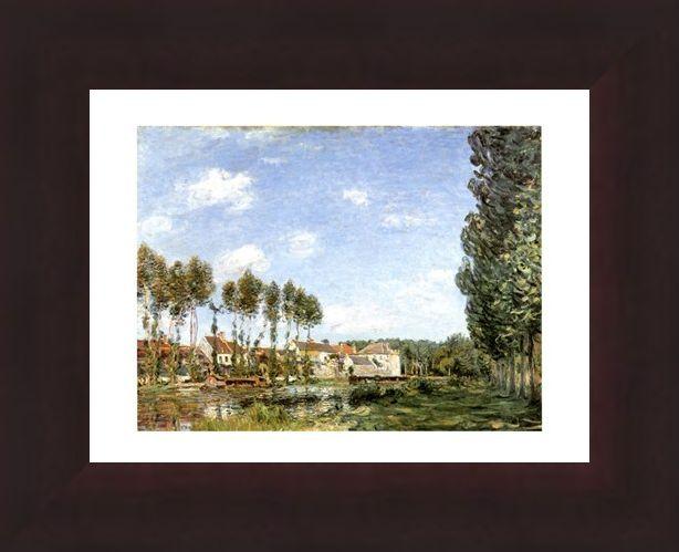 Framed Framed Moret Bords Du Loing - Alfred Sisley
