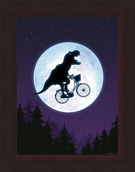 Framed Framed E.T-Rex Mini Poster - E.T Humour