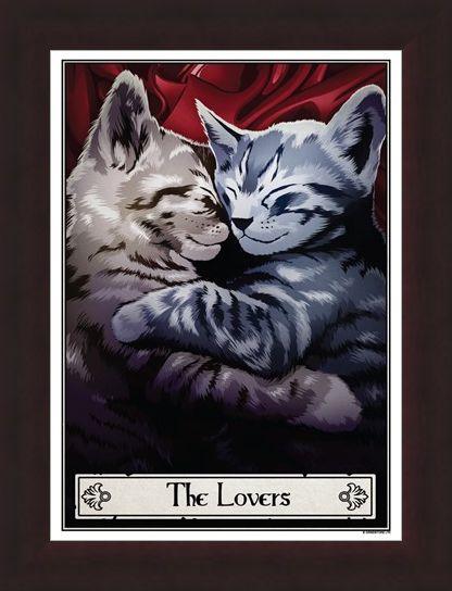 Framed Framed The Lovers - Deadly Tarot Felis