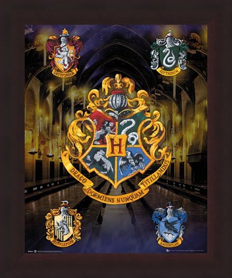 Framed Framed House Crests - Harry Potter