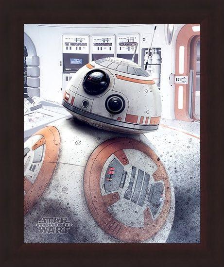 Framed Framed BB-8 Peek - Star Wars The Last Jedi
