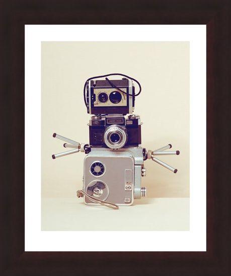 Framed Framed Robot Hands - Ian Winstanley