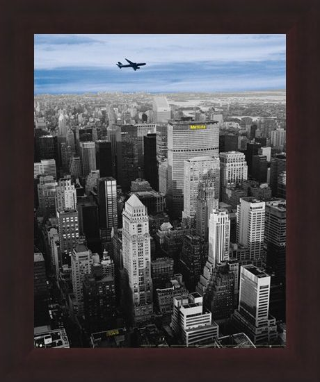 Framed Framed Flying High above The MetLife Building - New York City