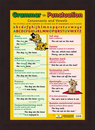 Framed Framed Grammar and Punctuation - Educational Children's Chart