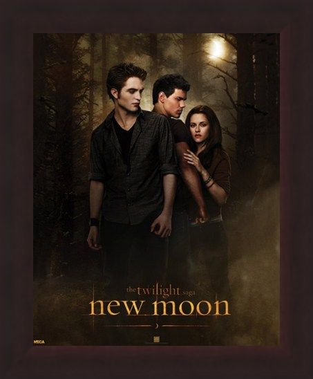 Framed Framed Bella with Edward and Jacob - Who will she choose in the Twilight Saga?