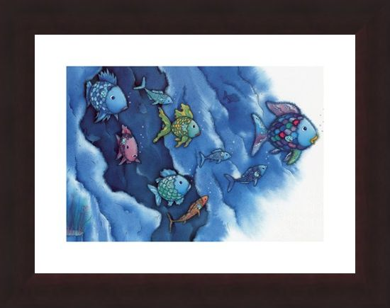 Framed Framed Rainbow Fish Plays with all his Friends - Marcus Pfister
