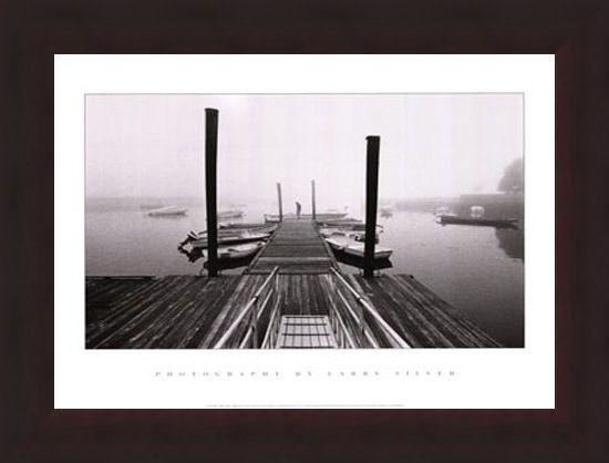 Framed Framed Misty Harbour - Larry Silver