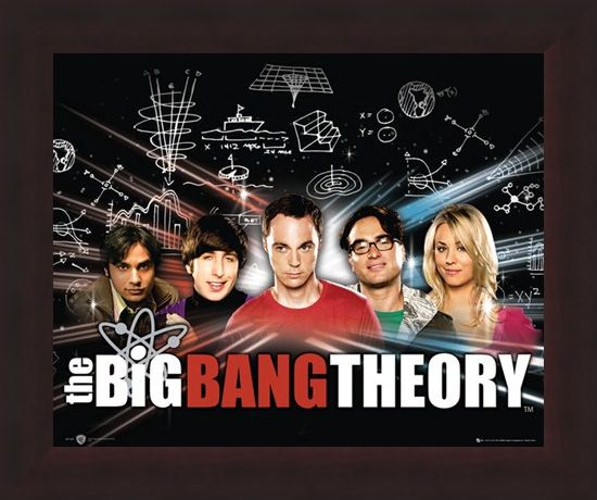 Framed Framed Raj, Howard, Sheldon, Leonard & Penny - The Big Bang Theory