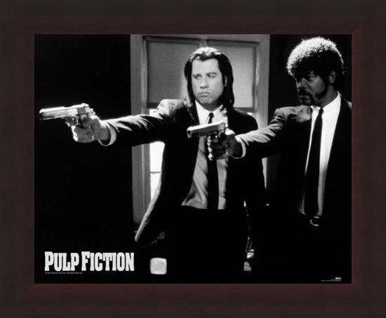 Framed Framed Vincent and Jules - Pulp Fiction