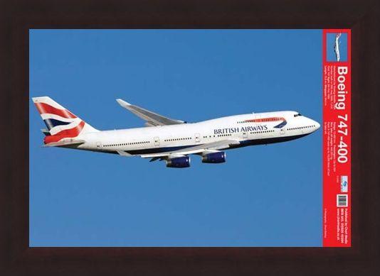 Framed Framed Boeing 747-400 - Jumbo Jet
