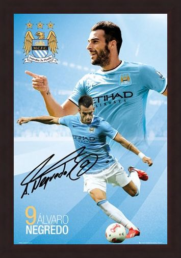 Framed Framed Alvaro Negredo - Manchester City Football Club