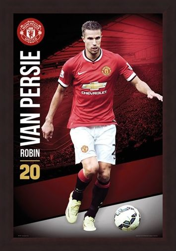 Framed Framed Robin Van Persie - Manchester United Football Club