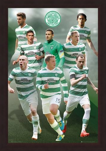 Framed Framed Star Players - Celtic Football Club 2014/15