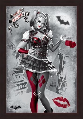 Framed Framed Harley Quinn - Batman Arkham Knight