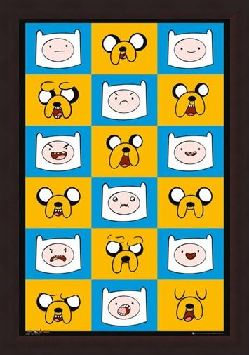 Framed Framed Finn & Jake Funny Faces - Adventure Time