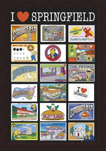 Framed Framed I Love Springfield - TV's Favourite Fictional Town