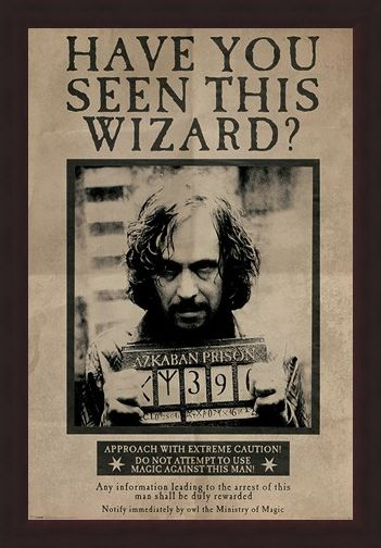 Framed Framed Wanted Sirius Black - Harry Potter