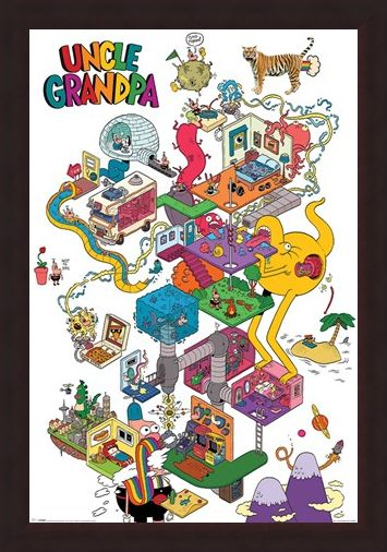 Framed Framed Uncle Grandpa - A Warped Mind