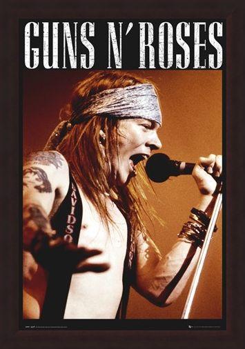 Framed Framed Guns N Roses - Axel Rose