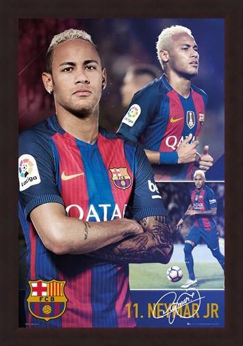 Framed Framed Neymar Jr - Barcelona Football Club